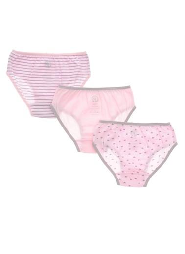Panço PanÇo 1715802196 Pamuklu Kız Çocuk Slip Çamaşır Renksiz
